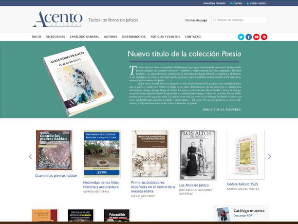web editorial acento
