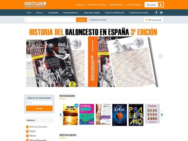 web libreria deportiva esmsl