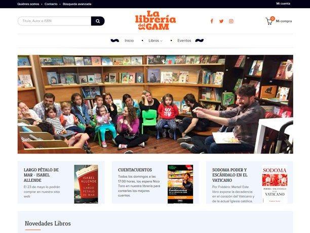 web la libreria del gam