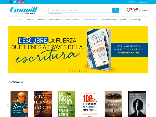 web libreria gonvill