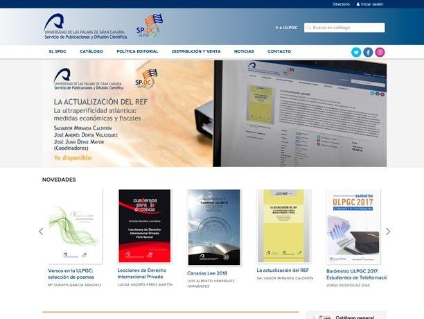 web editorial universidad de las palmas de gran canaria