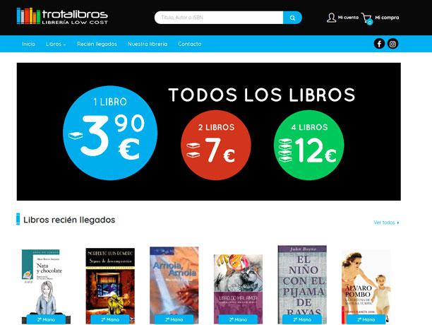 web libreria trotalibros