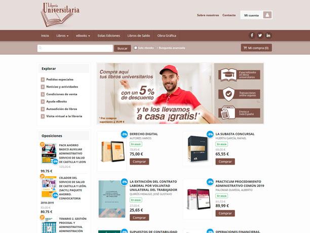 web libreria universitaria