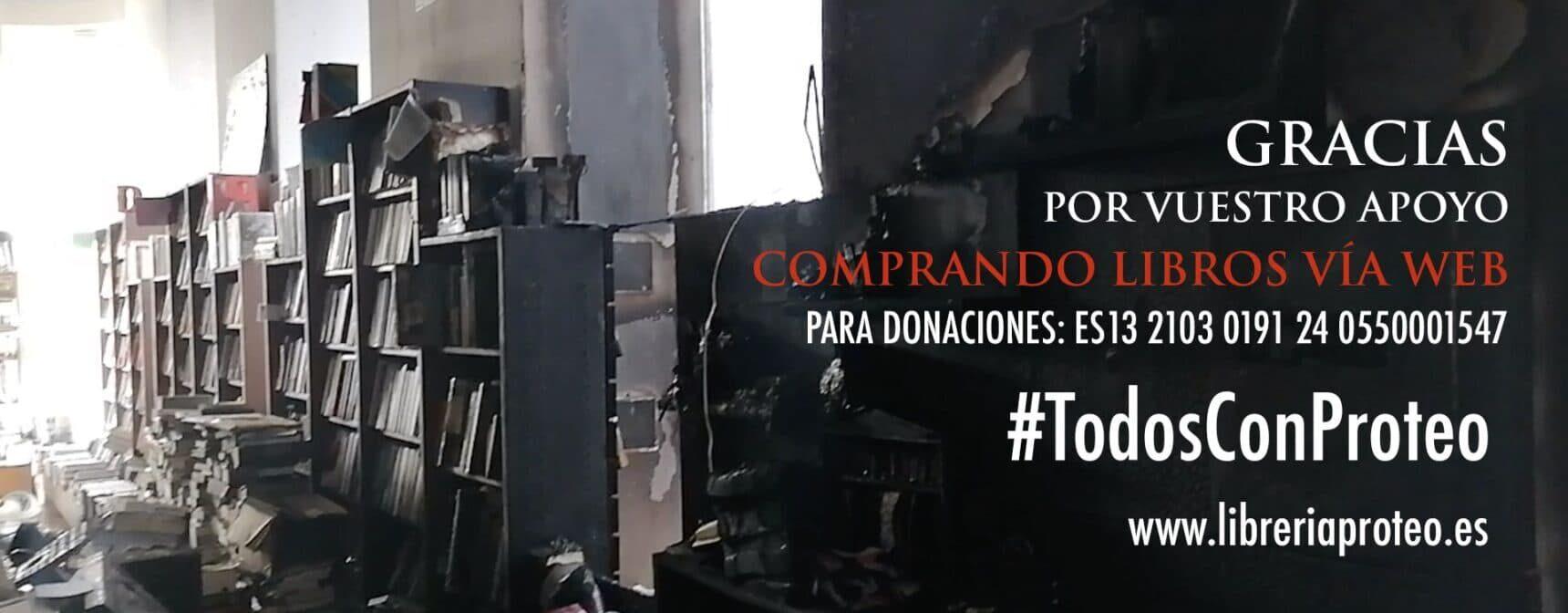 La Librería Proteo recibe una ola de solidaridad tras el incendio en sus instalaciones